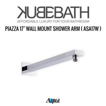 "KubeBath Aqua Piazza Shower Set With 12"" Square Rain Shower And 4 Body Jets"