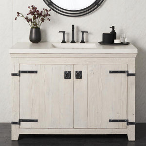"48"" Americana Vanity Base in Whitewash by Native Trails"