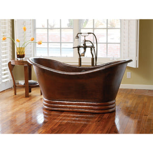"60"" Aurora Copper Bathtub in Antique Copper by Native Trails"
