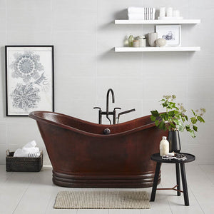 "72"" Aurora Copper Bathtub in Antique Copper by Native Trails"