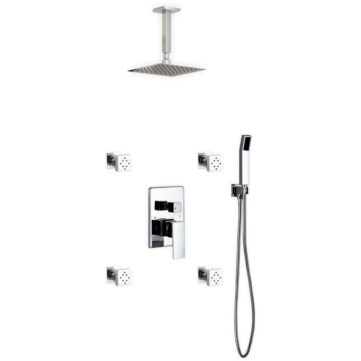 KubeBath Aqua Piazza Shower Set with 8