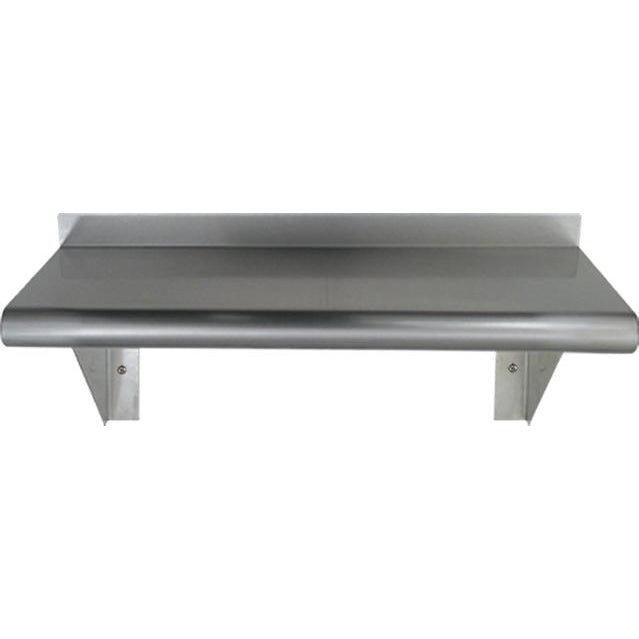 Whitehaus Culinary Equipment Pre-assembled Stainless Steel Shelf with Bull Nose Edge