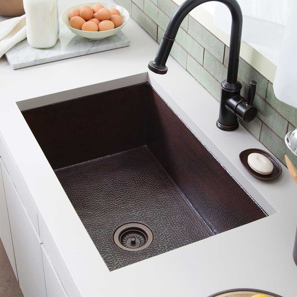 Cocina 30 Kitchen Sink in Antique Copper by Native Trails