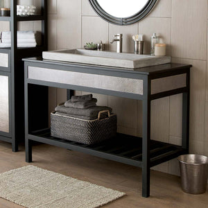 "48"" Cuzco Vanity Base in Brushed Nickel by Native Trails"
