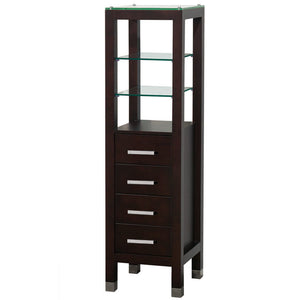 "MTD Vanities Cuba 15.5"" Bathroom Storage Linen Tower, Espresso"