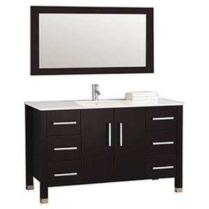 "MTD Vanities Monaco 48"" Single Sink Bathroom Vanity Set, Espresso"