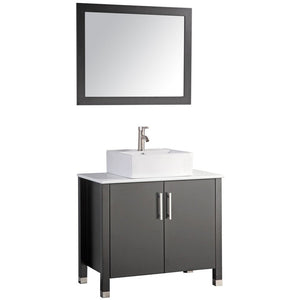 "MTD Vanities Aruba 36"" Single Sink Bathroom Vanity Set, Espresso"