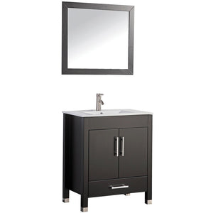 "MTD Vanities Monaco 30"" Single Sink Bathroom Vanity Set, Espresso"