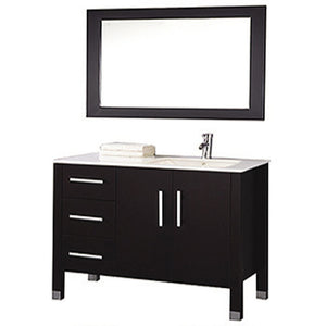 "MTD Vanities Monaco 40"" Single Sink Bathroom Vanity Set (Sink on Right Side), Espresso"