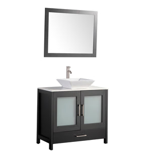 "MTD Vanities Jordan 36"" Single Sink Bathroom Vanity Set, Espresso"