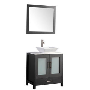 "MTD Vanities Jordan 24"" Single Sink Bathroom Vanity Set, Espresso"