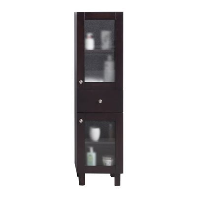 Everest - Brown Side Cabinet by Laviva