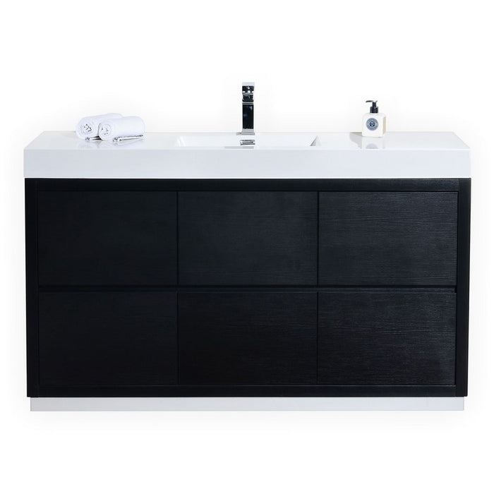 "Bliss 60"" Single Sink Free Standing Modern Vanity by KubeBath"