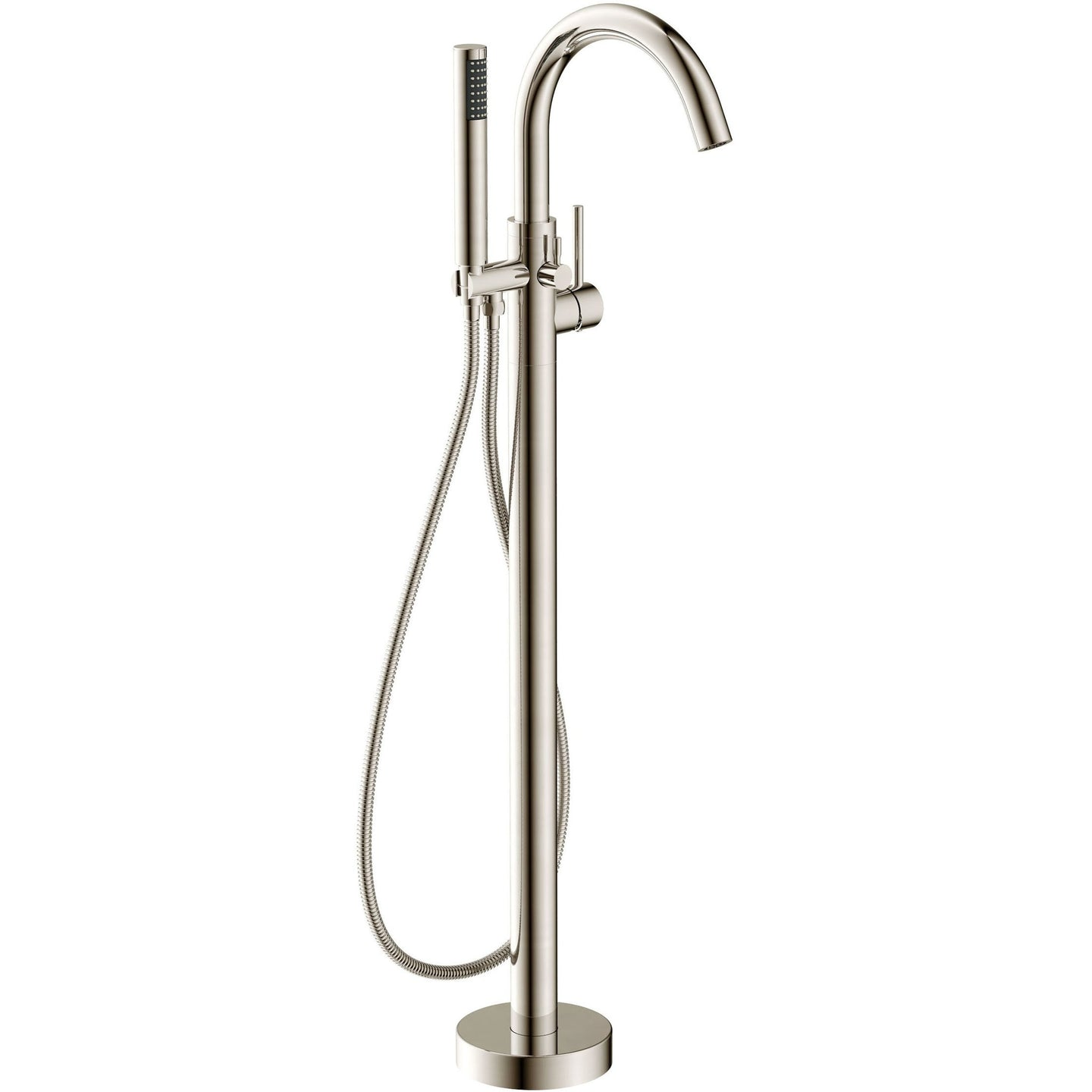 Anzzi Kros - Free Standing Tub Filler with Handshower