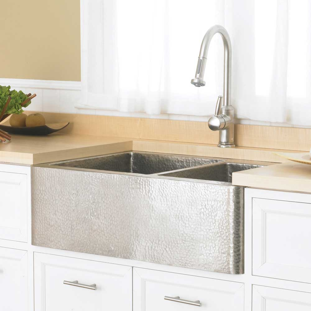 Farmhouse Duet Kitchen SInk in Brushed Nickel by Native Trails