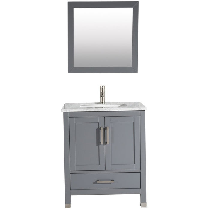 MTD Vanities Ricca 30'' Single Sink Bathroom Vanity Set, Grey