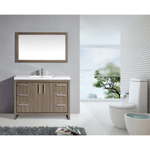"MTD Vanities Miami 48"" Single Sink Bathroom Vanity Set, Grey Pine"