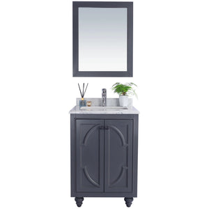 Odyssey - 24 - Maple Grey Vanity and White Carrera Counter by Laviva