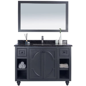 Odyssey - 48 - Maple Grey Cabinet + Black Wood Counter by Laviva
