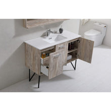 "Bosco 48"" Modern Vanity with Quartz Countertop and Mirror by KubeBath"