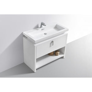"Levi 40"" Modern Vanity with Cubby Hole by KubeBath"