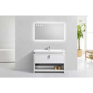 "Levi 48"" Modern Vanity with Cubby Hole by KubeBath"