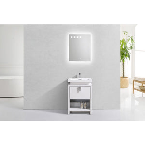 "Levi 24"" Modern Vanity with Cubby Hole by KubeBath"