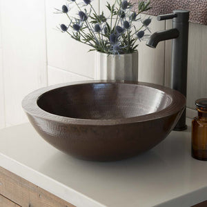 Laguna Bathroom Sink in Antique Copper by Native Trails