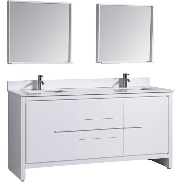 Cypress 72 inch double sink vanity