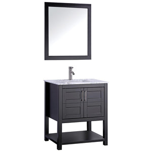 "MTD Vanities Norway 30"" Single Sink Bathroom Vanity Set, Espresso"