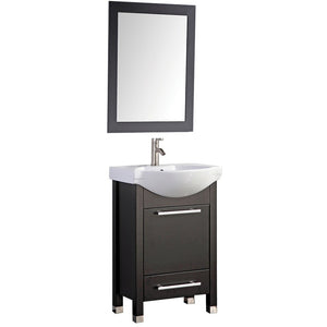 "MTD Vanities Peru 24"" Single Sink Bathroom Vanity Set, Espresso"