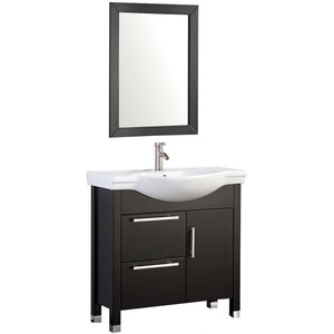 "MTD Vanities Peru 36"" Single Sink Bathroom Vanity Set, Espresso"