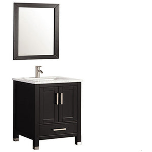 "MTD Vanities Ricca 24"" Single Sink Bathroom Vanity Set, Espresso"