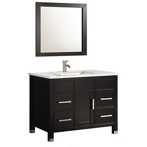 "MTD Vanities Ricca 36"" Single Sink Bathroom Vanity Set, Espresso"