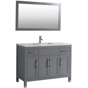 "MTD Vanities Ricca 48"" Single Sink Bathroom Vanity Set, Grey"