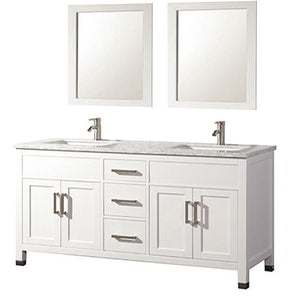 "MTD Vanities Ricca 60"" Double Sink Bathroom Vanity Set, White"