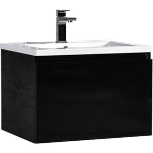 "MTD Vanities Sunset 24"" LED Illuminated Single Sink Wall Mount Floating Bathroom Vanity with Acrylic Top"