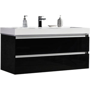 "MTD Vanities Maui 48"" LED Illuminated Single Sink Wall Mount Floating Bathroom Vanity with Acrylic Top"