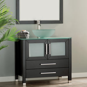 "MTD Vanities Cuba 36"" Single Sink Bathroom Vanity Set, Espresso"