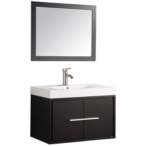 "MTD Vanities Cypress 30"" Single Sink Wall Mounted Bathroom Vanity Set, Espresso"