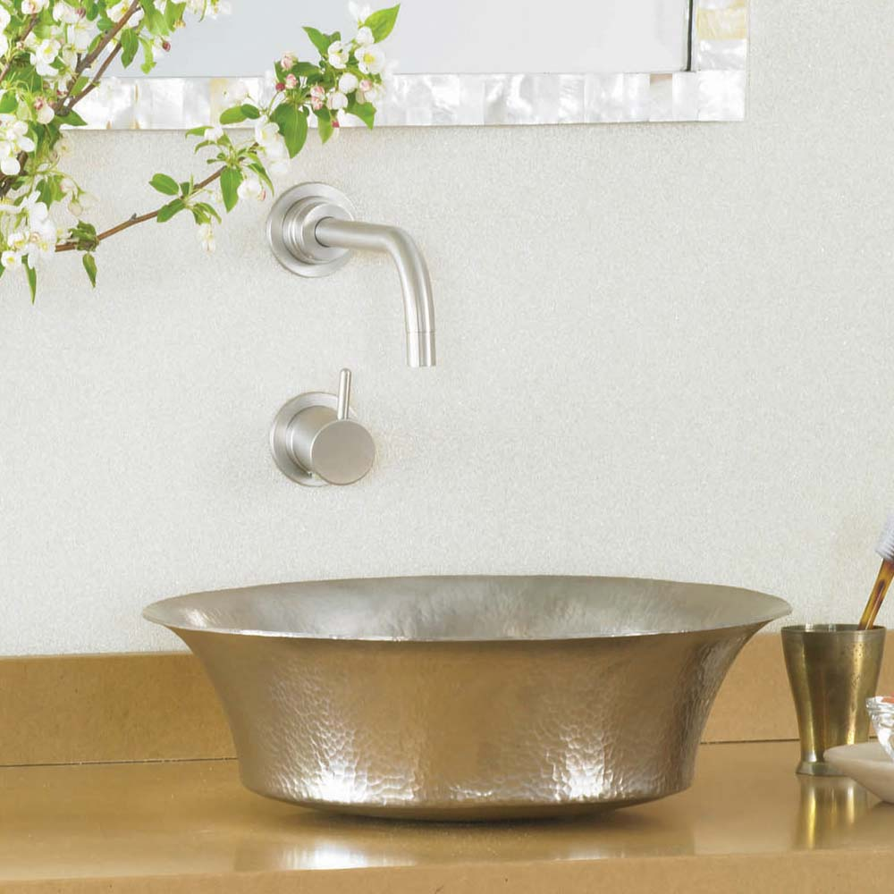 Maestro Bajo Bathroom Sink in Brushed Nickel by Native Trails