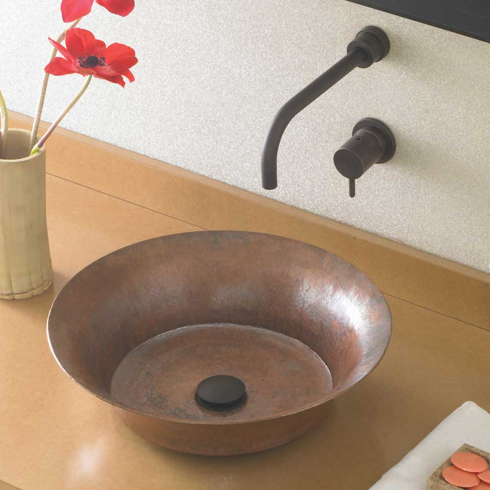 Maestro Bajo Bathroom Sink in Tempered Copper by Native Trails