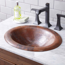 Maestro Lotus Bathroom Sink in Tempered Copper by Native Trails