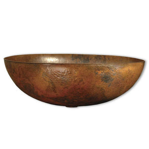 Maestro Oval Bathroom Sink in Tempered Copper by Native Trails