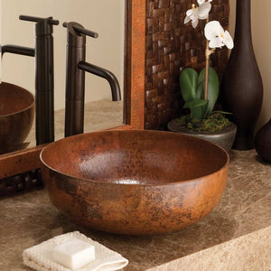Maestro Round Bathroom Sink in Tempered Copper by Native Trails