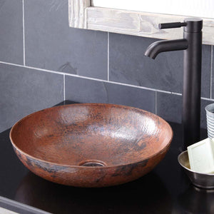 Maestro Sonata Petit Bathroom Sink in Tempered Copper by Native Trails
