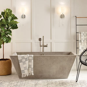 "Mendocino 66"" Concrete Bathtub by Native Trails"