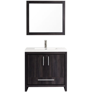 "MTD Vanities Miami 36"" Single Sink Bathroom Vanity Set, Black Walnut"