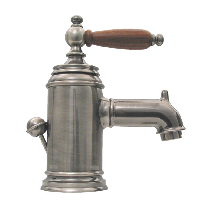 Whitehaus Fountainhaus Single Hole/Single Lever Lavatory Faucet with Cherry Wood Handle and Pop-up Waste