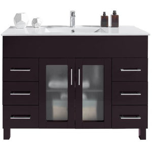 Nova 48 - Brown Vanity and Ceramic Basin Counter by Laviva